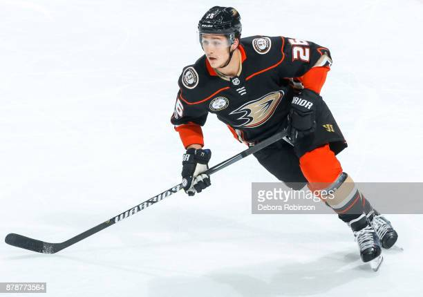 Brandon Montour of the Anaheim Ducks skates during the second period of the game against the Florida Panthers at Honda Center on November 19 2017 in...