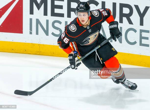 Brandon Montour of the Anaheim Ducks skates during the second period of the game against the Chicago Blackhawks at Honda Center on March 4 2018 in...