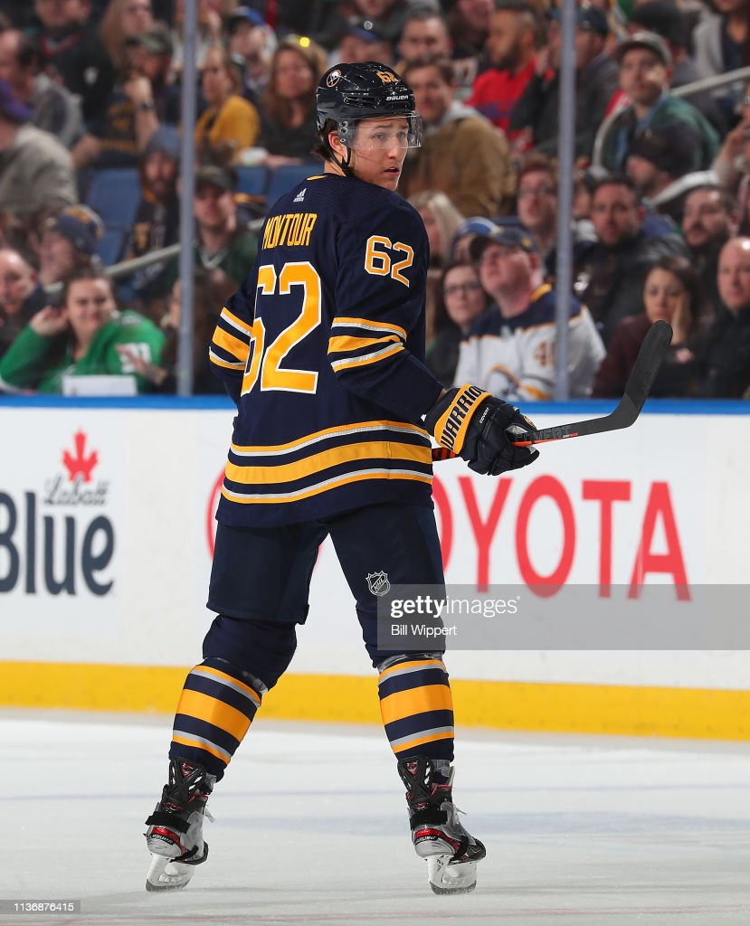 Brandon Montour of the Buffalo Sabres skates during an NHL game