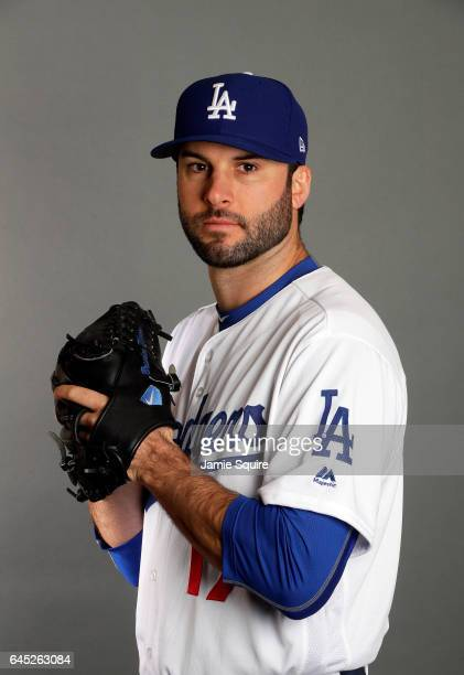 Brandon Morrow of the Los Angeles Dodgers poses on Los Angeles Dodgers Photo Day during Sprint Training on February 24 2017 in Glendale Arizona