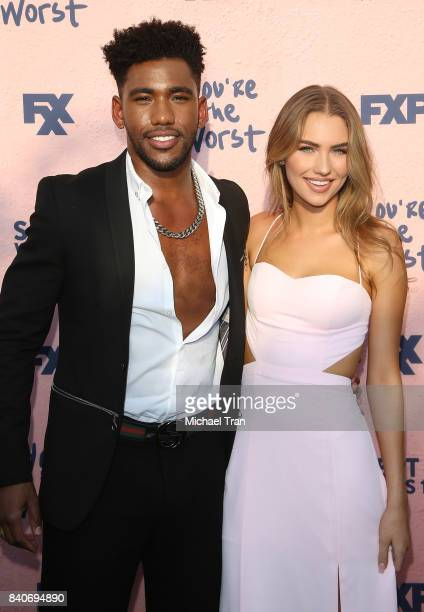 Brandon Mychal Smith and guest attend the Los Angeles premiere of FXX's 'You're The Worst' season 4 held at Museum of Ice Cream LA on August 29 2017...