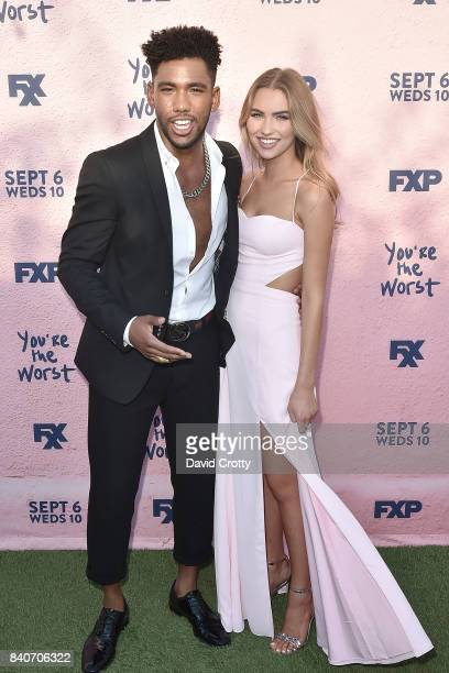 Brandon Mychal Smith and Guest attend the Premiere Of FXX's 'You're The Worst' Season 4 Arrivals at Museum of Ice Cream LA on August 29 2017 in Los...