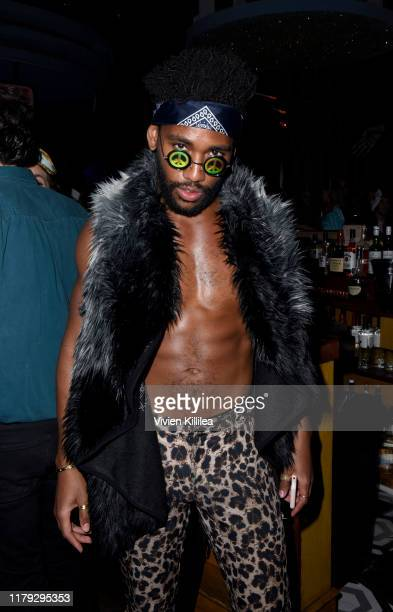 Brandon Mychal Smith attends Podwall Entertainment's 10th Annual Halloween Party presented by Maker's Mark on October 31 2019 in West Hollywood...