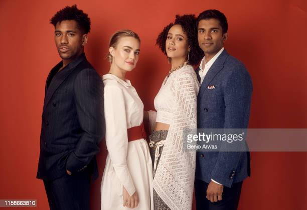 Brandon Mychal Smith Rebecca Rittenhouse Nathalie Emmanuel and Nikesh Patel of Hulu's 'Four Weddings and a Funeral' pose for a portrait during the...
