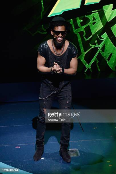 Brandon Mychal Smith speaks onstage at the Nickelodeon Upfront 2018 at Palace Theatre on March 6 2018 in New York City