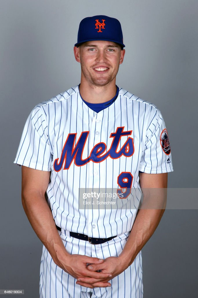 Brandon Nimmo #9 of the New York Mets poses during Photo Day on Wednesday, February 22, 2017 at Tradition Field in Port St. Lucie, Florida.