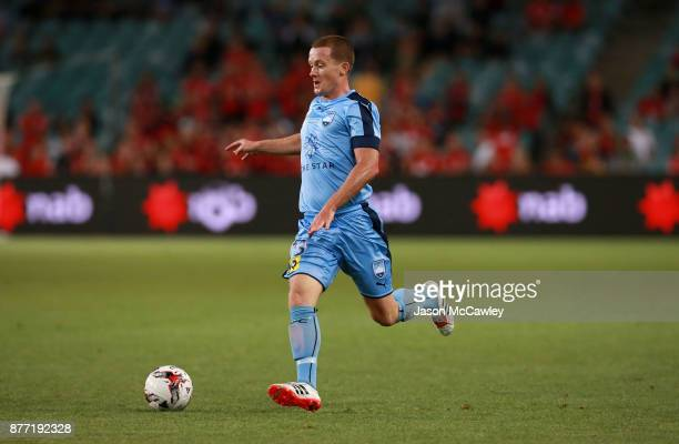 Brandon O'Neill of Sydney controls the ball during the FFA Cup Final match between Sydney FC and Adelaide United at Allianz Stadium on November 21...