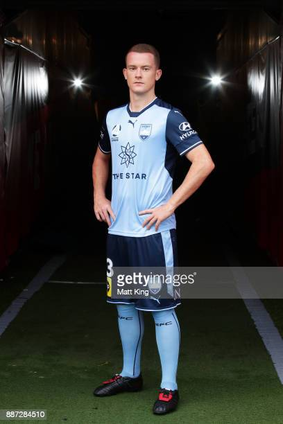 Brandon O'Neill of Sydney FC poses during a joint Sydney FC and Western Sydney Wanderers ALeague media opportunity at ANZ Stadium on December 6 2017...