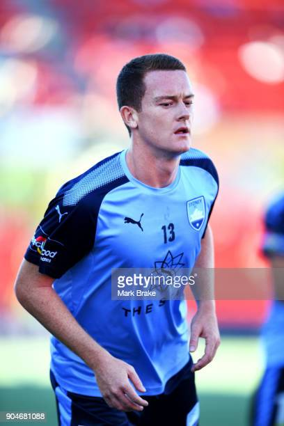 Brandon O'Neill of Sydney FC warms up during the round 16 ALeague match between Adelaide United and Sydney FC at Coopers Stadium on January 14 2018...