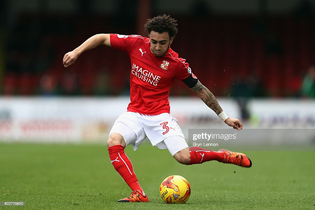 Brandon Ormonde-Ottewill of Swindon Town in action during the Sky Bet League One match between Swindon Town and Charlton Athletic at County Ground on November 12, 2016 in Swindon, England.