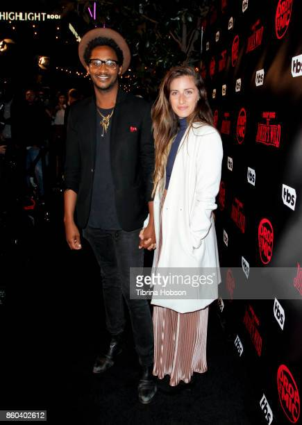 Brandon Owens and Guest attend the premiere for TBS's 'Drop The Mic' and 'The Joker's Wild' at The Highlight Room on October 11 2017 in Los Angeles...
