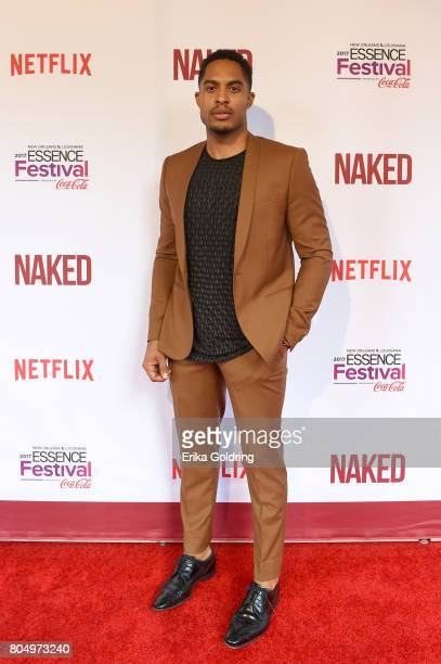 Brandon P Bell attends the Premiere of Netflix Original Film 'Naked' At The 2017 Essence Festival at Civic Theatre on June 30 2017 in New Orleans...