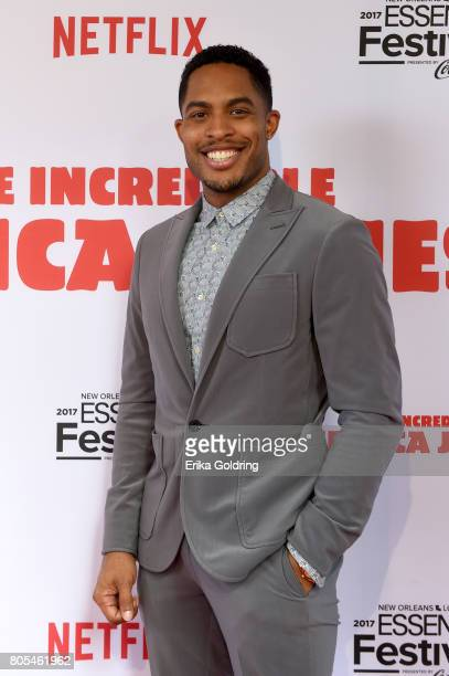 Brandon P Bell attends the Premiere Of Netflix Original Film The Incredible Jessica James At The 2017 Essence Festival on July 1 2017 in New Orleans...