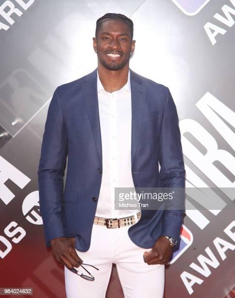 Brandon Paul arrives to the NBA Awards Show 2018 held at Barker Hangar on June 25 2018 in Santa Monica California