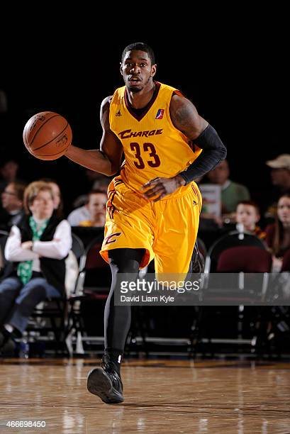 Brandon Paul of the Canton Charge brings the ball up the court against the Westchester Knicks at the Canton Memorial Civic Center on March 17 2015 in...