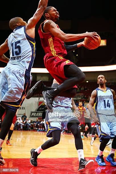 Brandon Paul of the Canton Charge drives to the basket against Larry Owens of the Iowa Energy in an NBA DLeague game on March 28 2015 at the Wells...