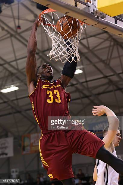 Brandon Paul of the Canton Charge dunks the ball against the Austin Spurs during the consolation game at the NBA DLeague Showcase game on January 17...