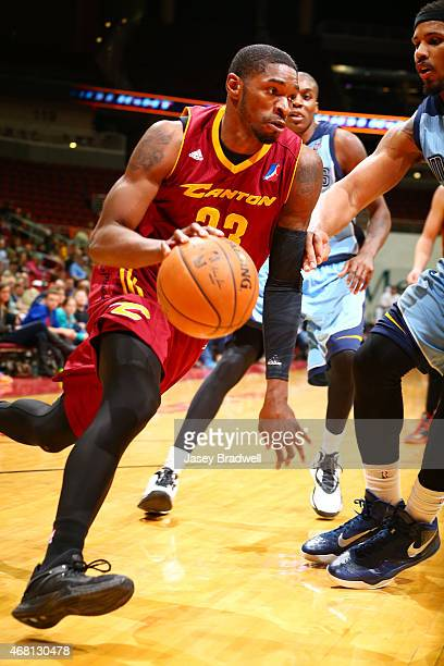 Brandon Paul of the Canton Charge handles the ball against the Iowa Energy in an NBA DLeague game on March 28 2015 at the Wells Fargo Arena in Des...
