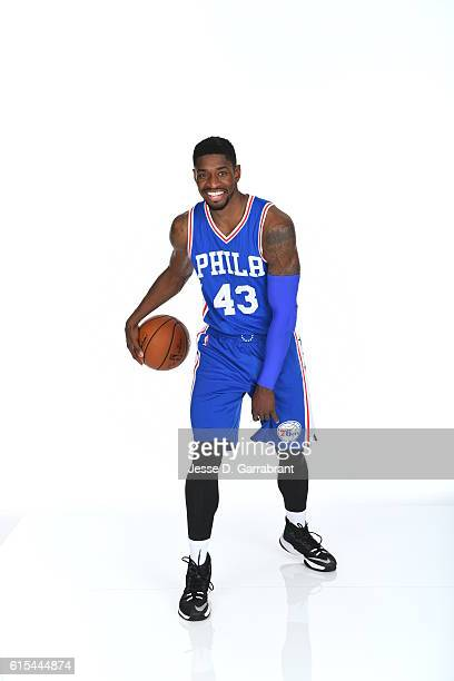 Brandon Paul of the Philadelphia 76ers poses for a photo at the76ers Training Complex on October 17 2016 in Camden New Jersey NOTE TO USER User...