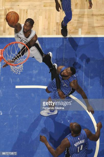 Brandon Paul of the San Antonio Spurs shoots the ball against the Orlando Magic on October 27 2017 at Amway Center in Orlando Florida NOTE TO USER...