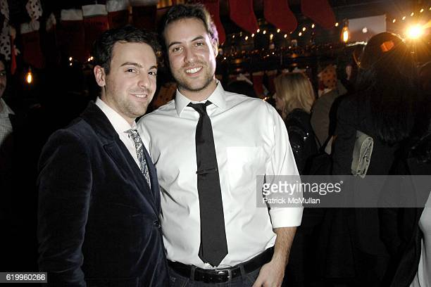 Brandon Perlman and Ari Goldberg attend STYLECASTER 2008 Holiday Party Sponsored by 10 Cane Rum at The Randolph on December 17 2008 in New York City