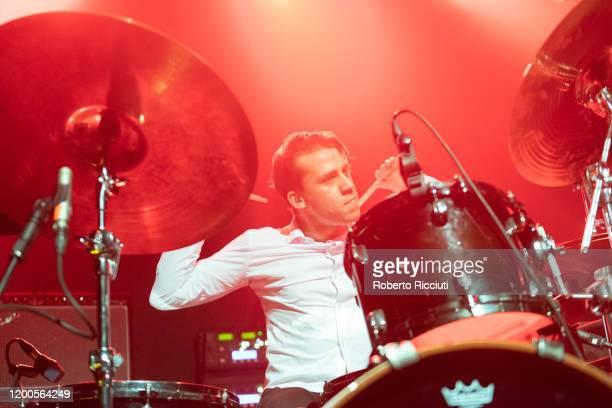 Brandon Pertzborn of Ho99o9 performs on stage at Barrowland Ballroom on February 13, 2020 in Glasgow, Scotland.