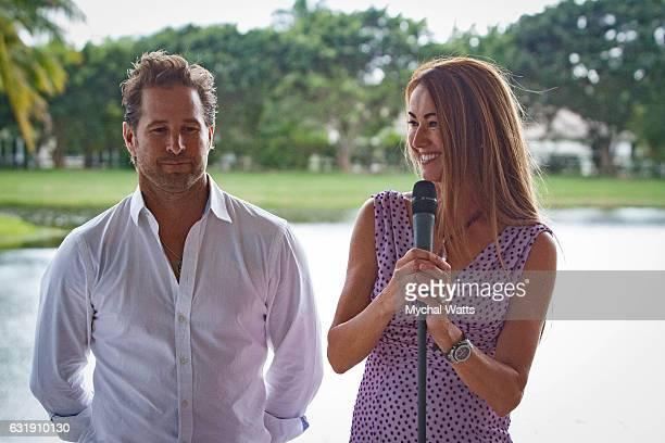 Brandon Phillips and Pj Rizvi at International Polo Club Palm Beach on January 16 2017 in Wellington Florida
