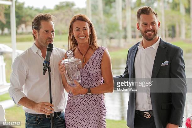 Brandon PhillipsPJ Rizvi at International Polo Club Palm Beach on January 16 2017 in Wellington Florida