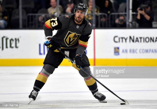 Brandon Pirri of the Vegas Golden Knights skates during the third period against the Ottawa Senators at T-Mobile Arena on October 17, 2019 in Las...
