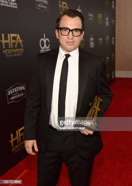 Brandon Proctor poses with the Hollywood Sound Award for 'A Quiet Place' at the 22nd Annual Hollywood Film Awards at The Beverly Hilton Hotel on...