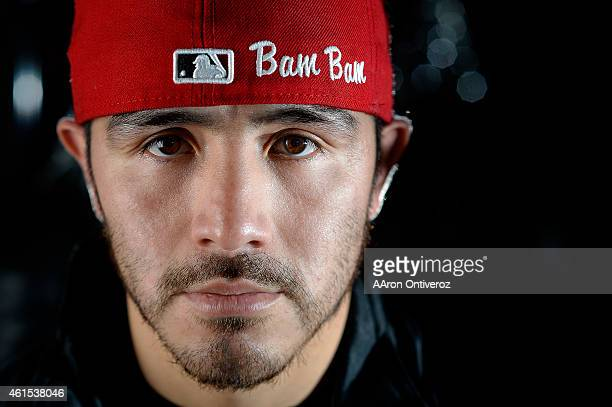 Brandon Rios poses for a portrait. Media day for Mike Alvarado and Brandon Rios in preparation for their third fight on Wednesday, January 14, 2015.