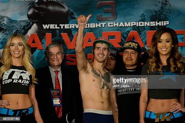 Brandon Rios weighs in January 23, 2015 at the Tailgate Roadhouse for the upcoming WBO International Welterweight Title fight. Brandon weighed in at...