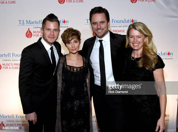 Brandon Robert Young Clare Bowen Charles Esten and Patty Hanson arrive at the TJ Martell Foundation 9th Annual Nashville Honors Gala at Omni Hotel on...