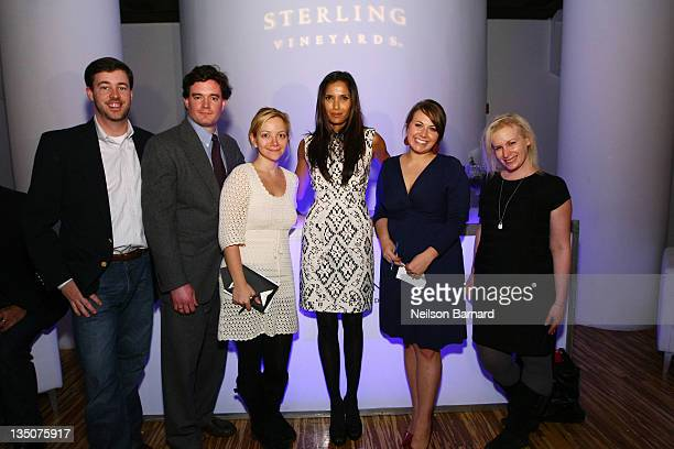 Brandon Robinson Sterling Brand Manager Keith Scott Lauren Barth Padma Lakshmi Courtney Dial and Aly Walanski attend the Sterling Ultimate Host event...