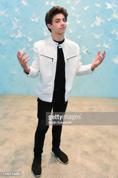 Brandon Rossel poses for portrait at WonderWorld Hollywood and Experience PopUp Opening Night Party on April 05 2019 in Hollywood California