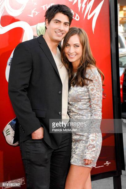 Brandon Routh and Courtney Ford attend Scott Pilgrim Vs The World Los Angeles Premiere at Grauman's Chinese Theatre on July 27 2010 in Hollywood CA