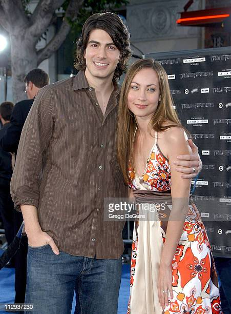 Brandon Routh and Courtney Ford during 2007 Los Angeles Film Festival Transformers Premiere at Mann Village Theatre in Westwood California United...