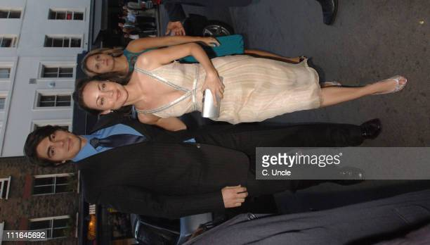 Brandon Routh and Courtney Ford during Brandon Routh and Courtney Ford Sighting at Roka Restaurant July 13 2006 in London Great Britain