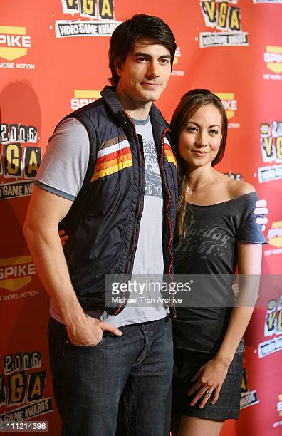 Brandon Routh and Courtney Ford during Spike TV's 2006 Video Game Awards Arrivals at The Galen Center in Los Angeles California United States