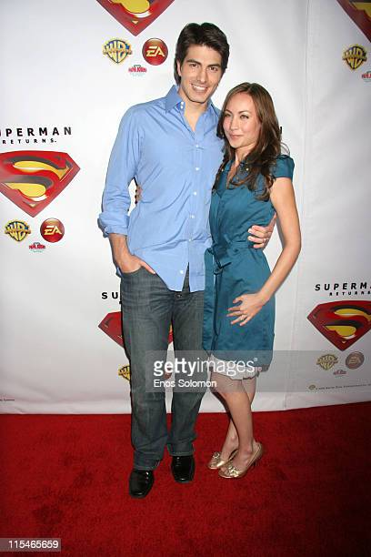 Brandon Routh and Courtney Ford during Superman Returns DVD and Video Game Launch Party Arrivals at Social Hollywood in Los Angeles CA United States