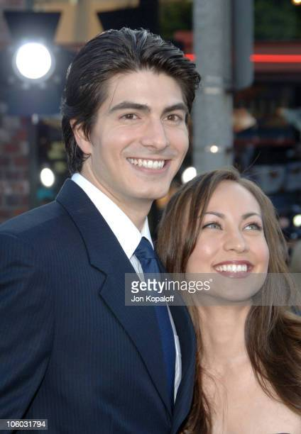 Brandon Routh and Courtney Ford during Superman Returns Los Angeles Premiere Arrivals at Mann Village and Bruin Theaters in Westwood California...