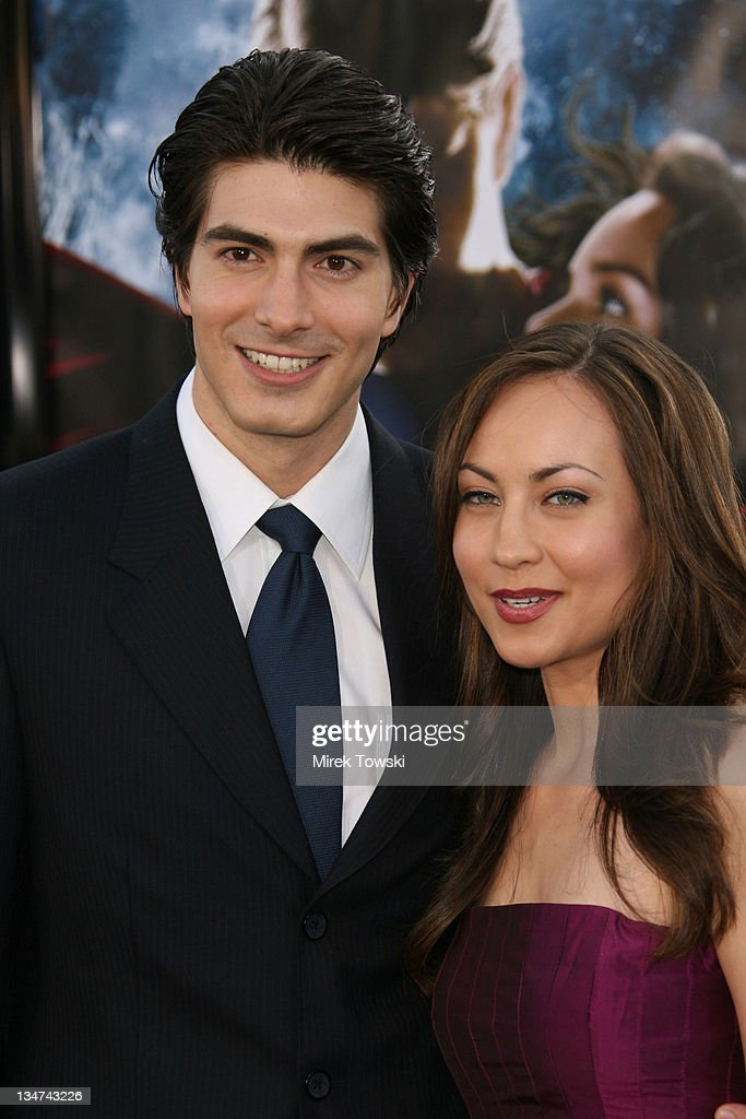 Brandon Routh and Courtney Ford during 'Superman Returns' Los Angeles Premiere at Mann Village and Bruin Theaters in Westwood, California, United States.
