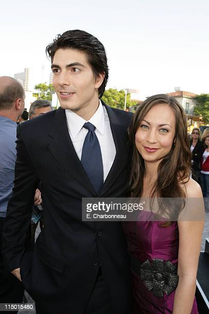 Brandon Routh and Courtney Ford during Warner Bros World Premiere of 'Superman Returns' at Village and Bruin Theatre in Westwood California United...