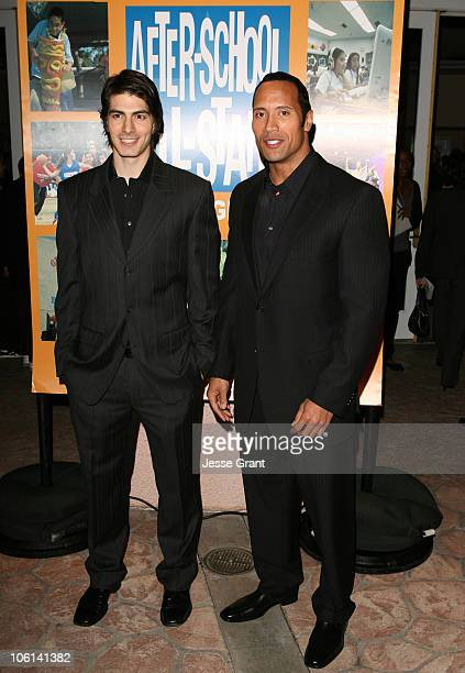Brandon Routh and Dwayne 'The Rock' Johnson and the AfterSchool AllStars
