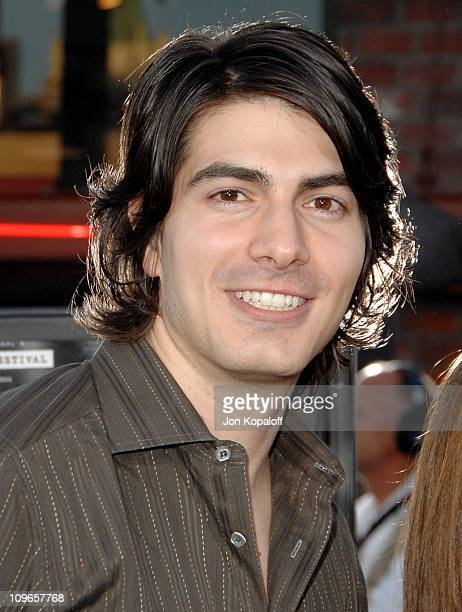 Brandon Routh and fiance Courtney Ford during 'Transformers' Los Angeles Premiere Arrivals at Mann Village Theater in Westwood California United...