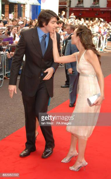 Brandon Routh and guest arriving for the UK premiere of Superman Returns at the Odeon Cinema Leicester Square central London Picture date Thursday...