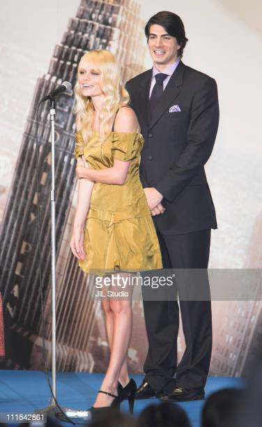Brandon Routh and Kate Bosworth during Superman Returns Tokyo Premiere Stage Greeting at Roppongi Hills Arena in Tokyo Japan