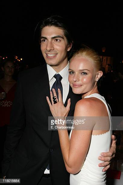 """Brandon Routh and Kate Bosworth during Warner Bros. World Premiere of """"Superman Returns"""" at Village and Bruin Theatre in Westwood, California, United..."""