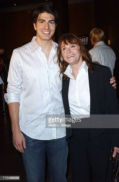 Brandon Routh and Margot Kidder during Screening of Superman II The Richard Donner Cut at The Director's Guild Theater in West Hollywood CA United...