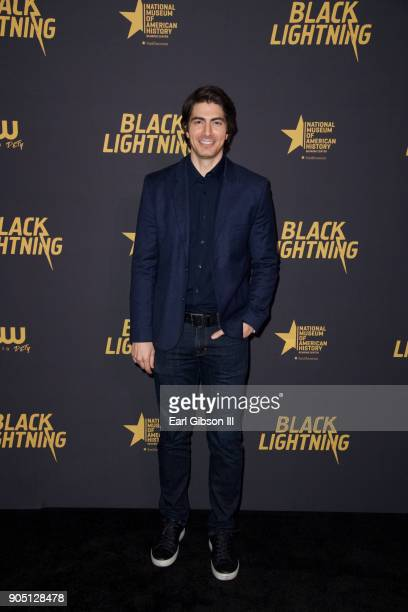 Brandon Routh attends 'Black Lightning' World Premiere at National Museum Of African American History Culture on January 13 2018 in Washington DC
